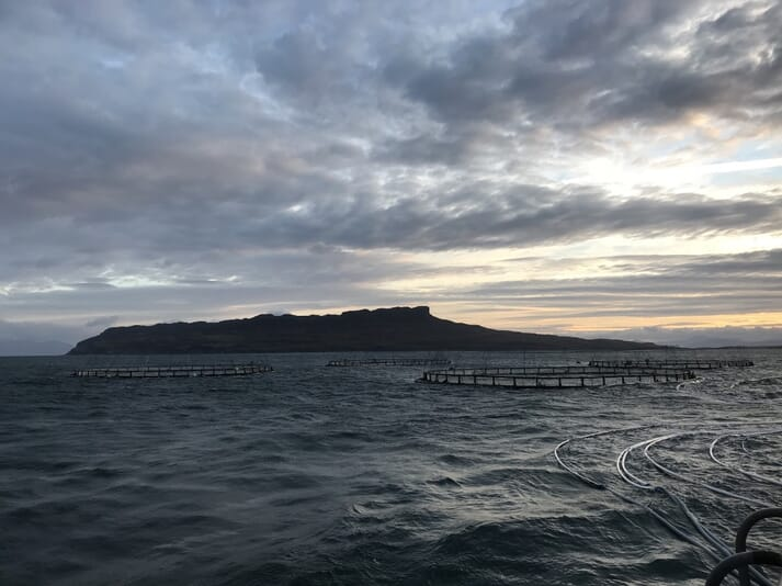 The view towards Eigg on Clara's first day on the site
