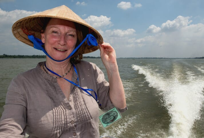 Nicki Holmyard has visited many aquaculture producers, including pangasius farmers in the Mekong Delta