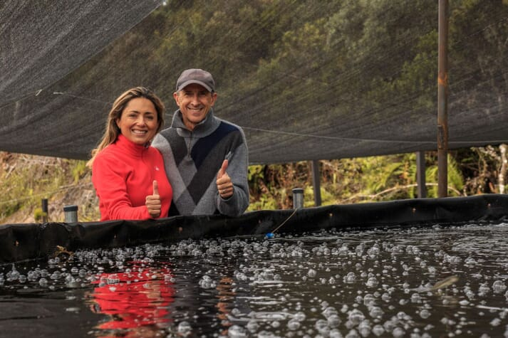 Patricia and her husband found that the crystal clear water in their area was perfect for cultivating trout