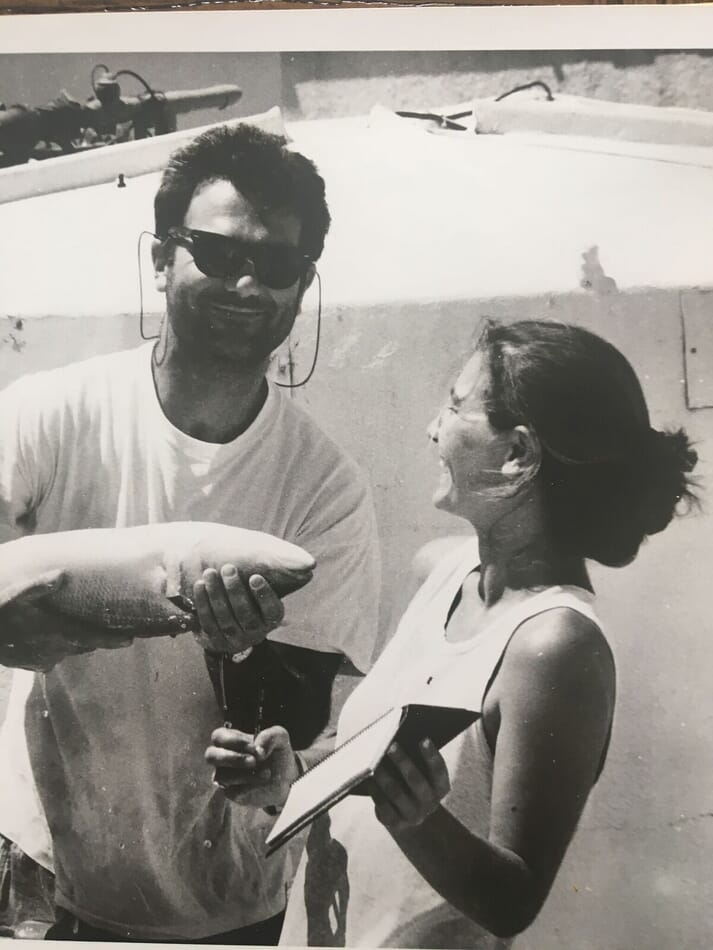 Pavlina with Peter Kelsey, one of the figures who inspired her aquaculture career