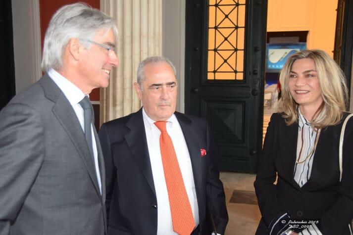 Pavlina with Gustavo Larazabal (EATIP president) and her husband John Stefanis, founder of Selonda