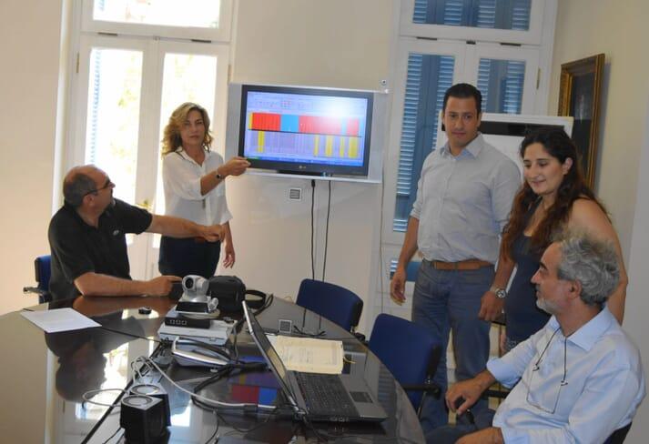 Pavlina with Selonda's hatchery managers