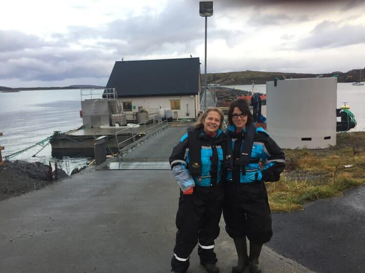 Dr Tibiábin Benítez-Santana at the Dønna Research Station with Turid Mørkøre