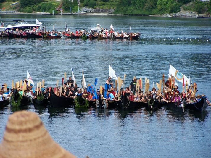 Tiffany Waters on an inter-tribal canoe journey with the Chinook Indian Nation