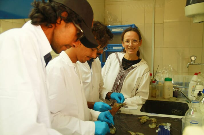 Overseeing the processing of samples in the NAQUA lab
