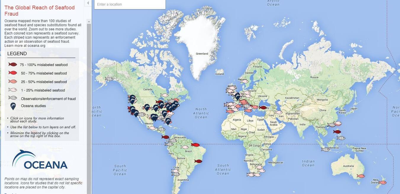 Global Reach of Seafood Fraud